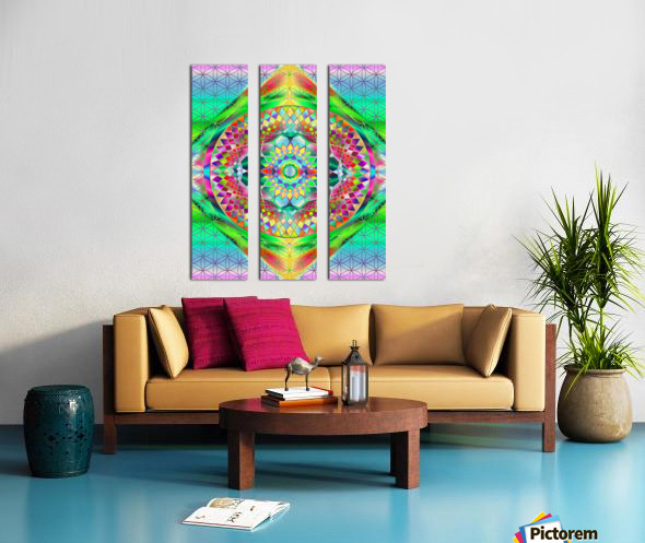 Vintage Green Mandala Split Canvas print