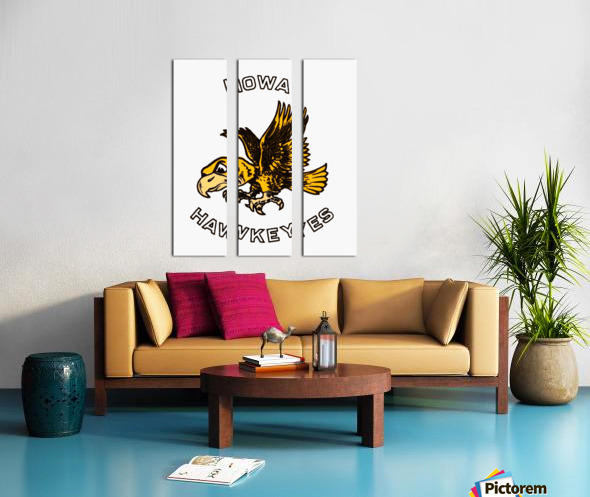 Vintage Iowa Hawkeyes Art Split Canvas print