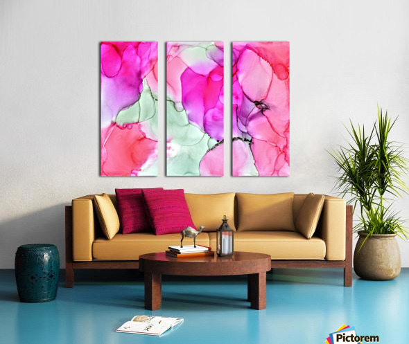Happiness in Pink Split Canvas print