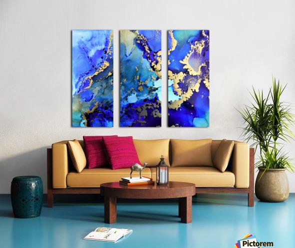 Starlight in Blue Split Canvas print