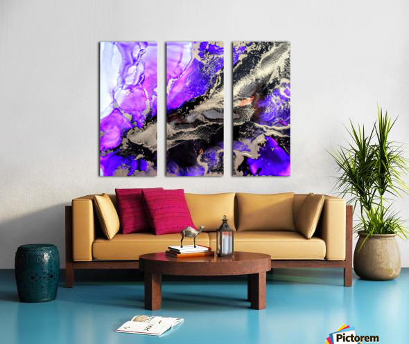 Purple Mirage II Split Canvas print