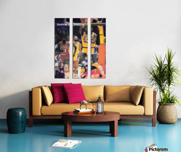 1983 Magic Johnson LA Lakers Split Canvas print