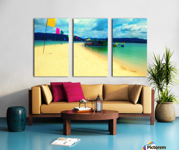 Sandbar Split Canvas print