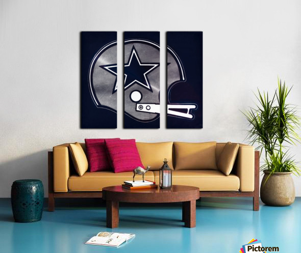 vintage dallas cowboys nfl helmet art Split Canvas print