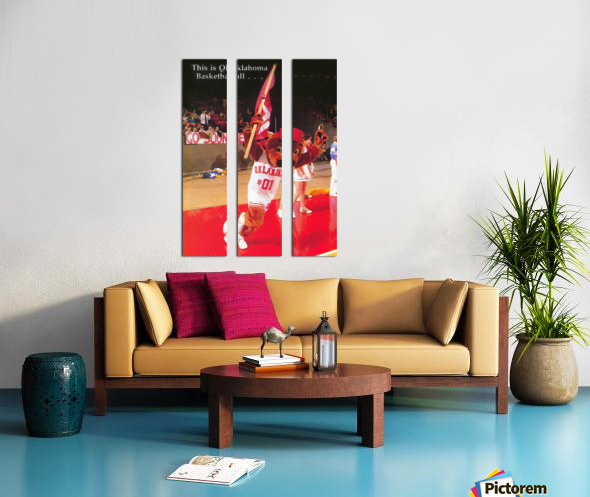 billy tubbs era top daug oklahoma sooners basketball poster prints on wood Split Canvas print