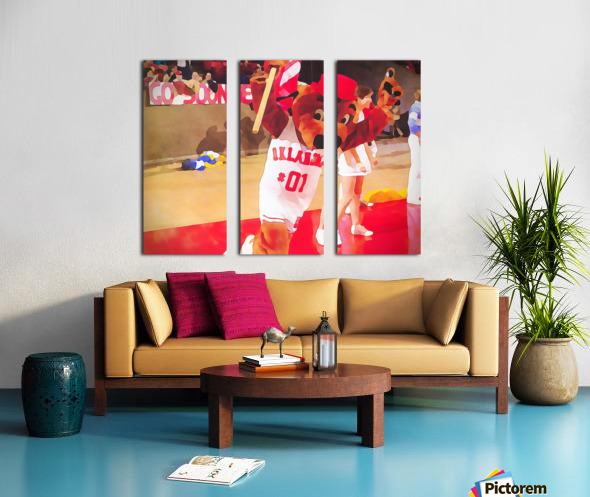 college mascot art top daug oklahoma sooners basketball art Split Canvas print