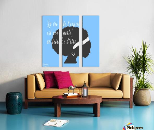 La vie Split Canvas print
