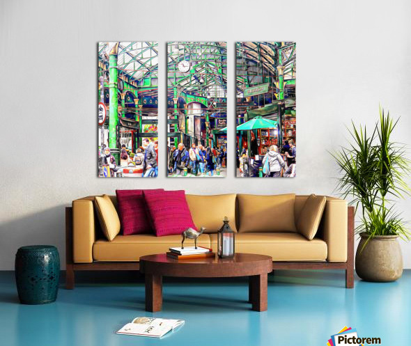 Borough Market London Split Canvas print