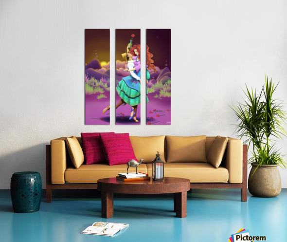 BIG GIRL 1 Split Canvas print