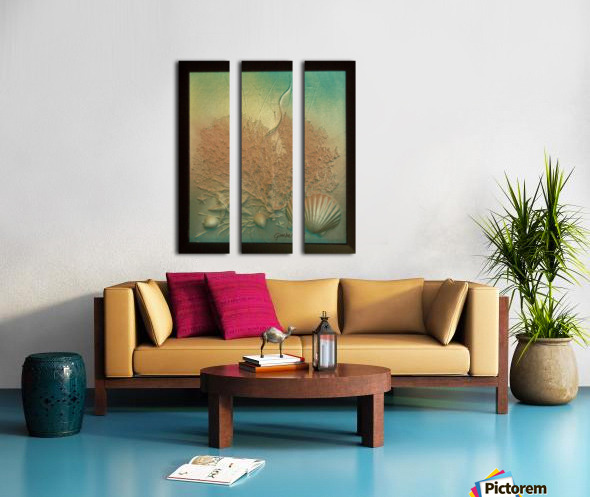 Coral Image Art Split Canvas print