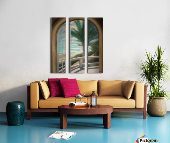 Balcony Split Canvas print