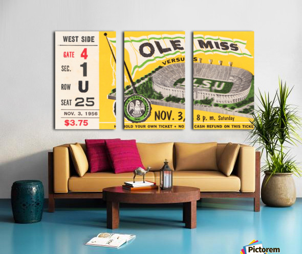 1956 lsu tigers college football baton rouge Split Canvas print