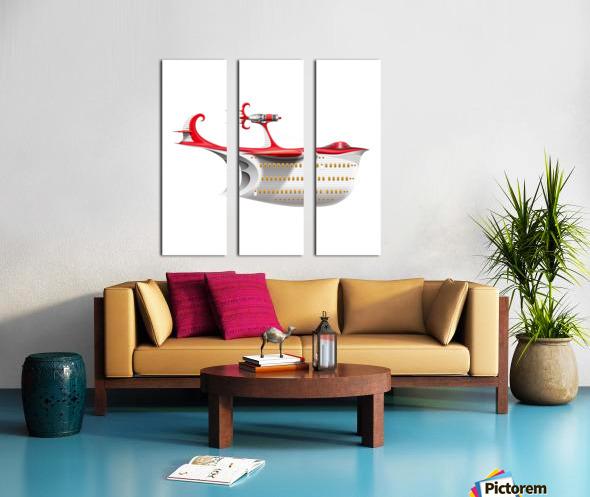 Avione Pelikanum Solo Split Canvas print