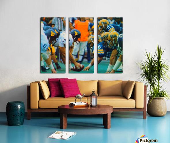 1981 College Football Photo West Virginia Pitt Panthers Wall Art Split Canvas print