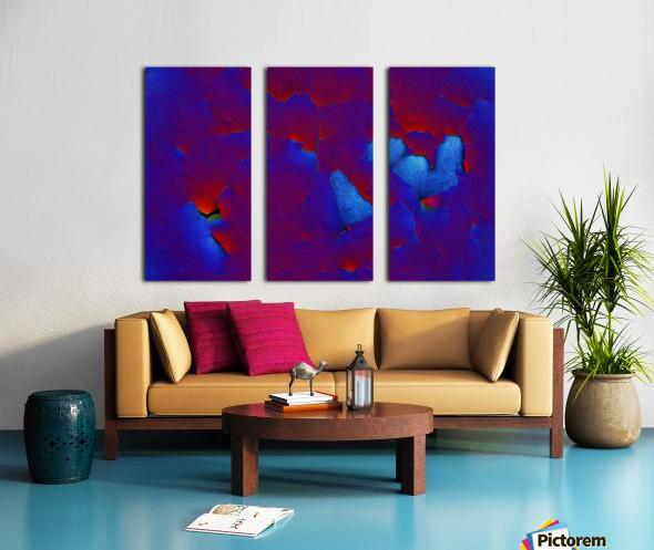 Rouge ecaille Split Canvas print
