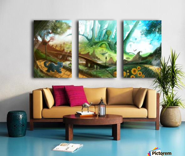 Looking for Dorothy Split Canvas print