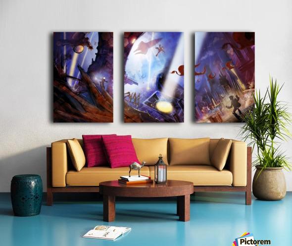 Lights On - Alien Megastructure Rama V Split Canvas print