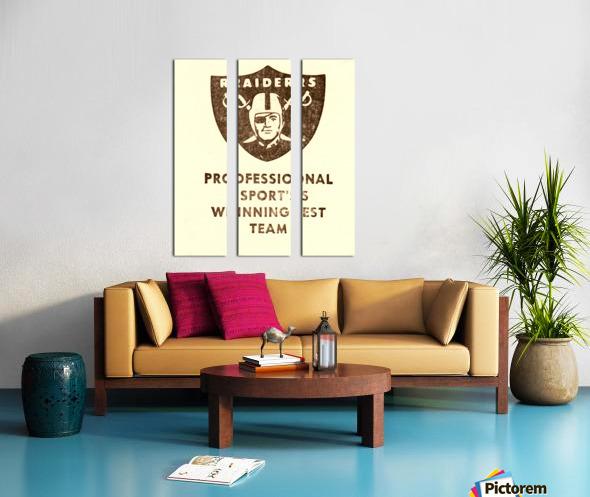 1983 Los Angeles Raiders Split Canvas print