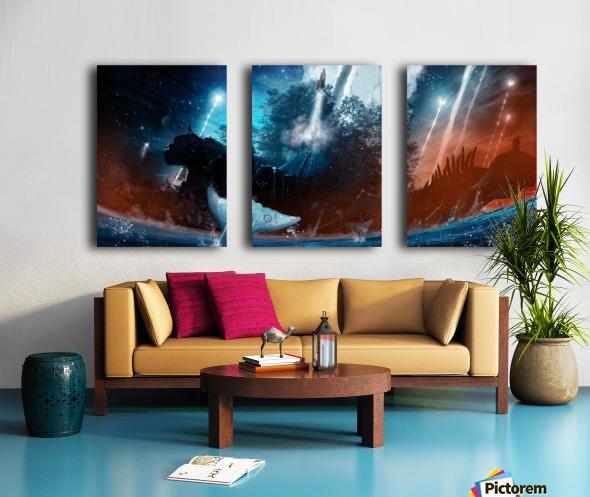 The Stars Are Our Destination Split Canvas print