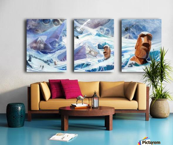Lost Antarctida Split Canvas print
