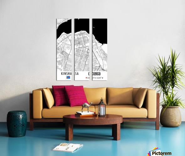 Kinshasa CONGO Split Canvas print