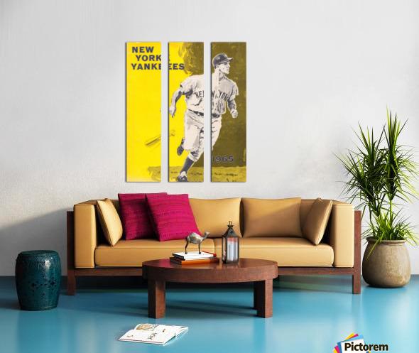 1965 new york yankees poster Split Canvas print