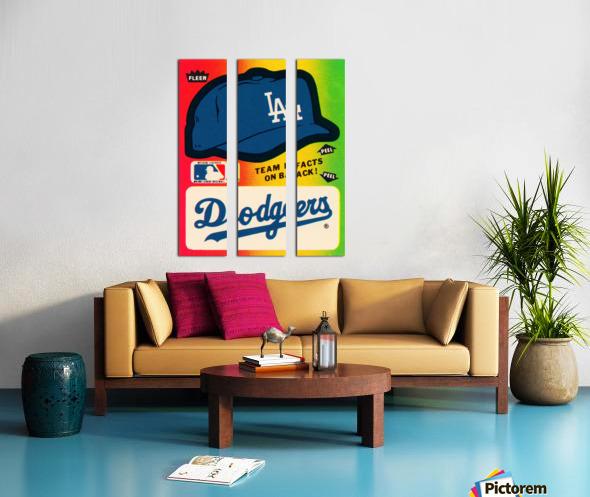 1983 fleer baseball stickers la dodgers ballcap art Split Canvas print