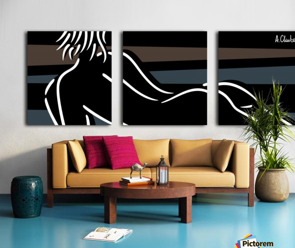 Nude 4 Split Canvas print