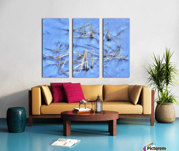 Brindilles glacees Split Canvas print