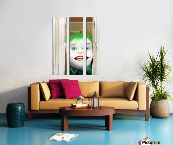 Heres The Joker Split Canvas print