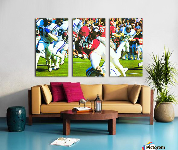 1982 Marcus Dupree Oklahoma Football Art Split Canvas print