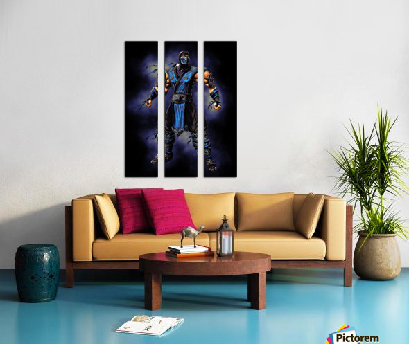 Sub Zero   Mortal Kombat Split Canvas print