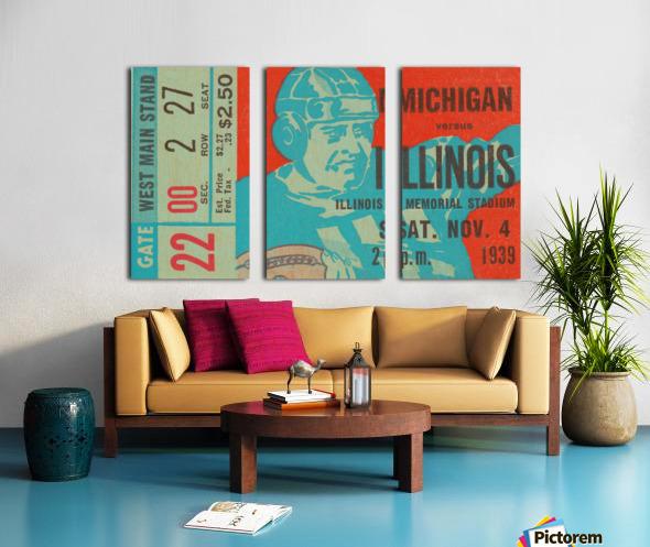 1939 Michigan vs. Illinois Split Canvas print