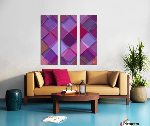 MIXART07 Split Canvas print