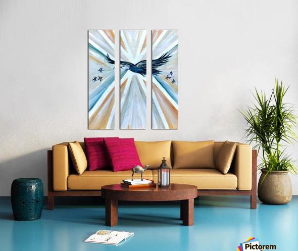 Art deco Freedom Split Canvas print