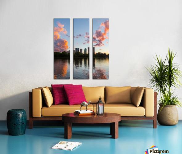 Winnipeg Sunset Split Canvas print