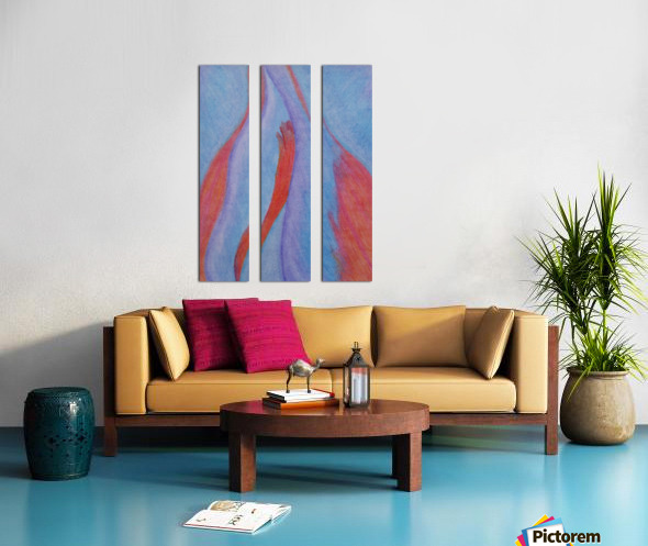 Burning  Split Canvas print