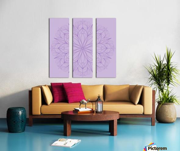 lilac mandala Split Canvas print