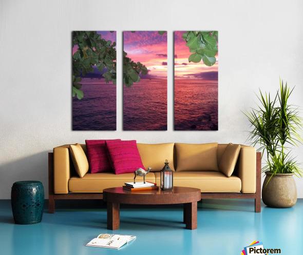 Maui Sunset Split Canvas print