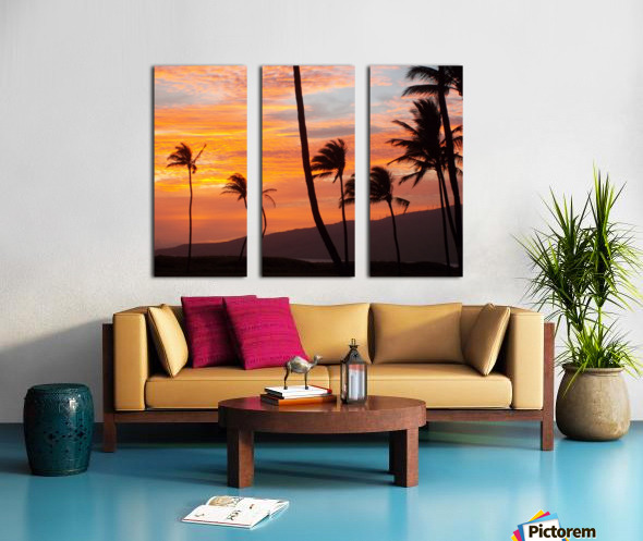 Maui Palms Split Canvas print