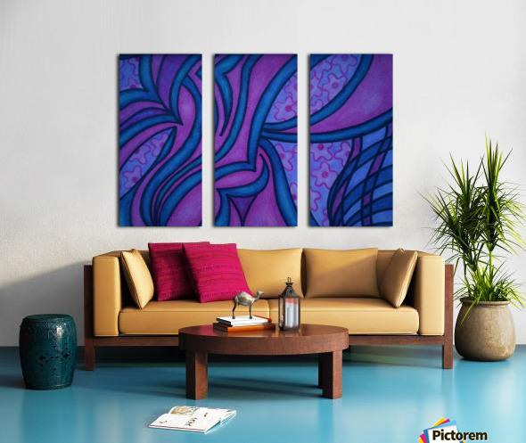 Raspberry and Blueberry Split Canvas print