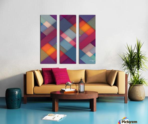 ABSTRACT ART 06 Split Canvas print