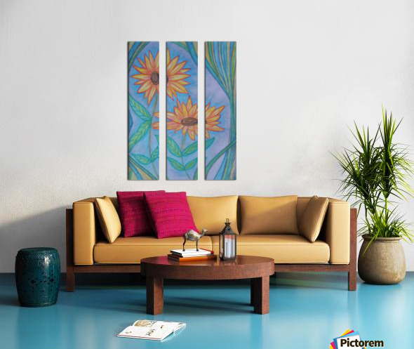Sunflowers Split Canvas print
