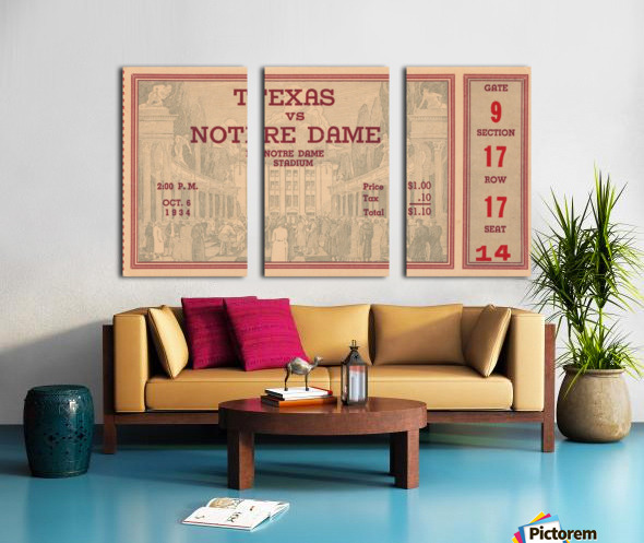 1934  Texas vs. Notre Dame Split Canvas print