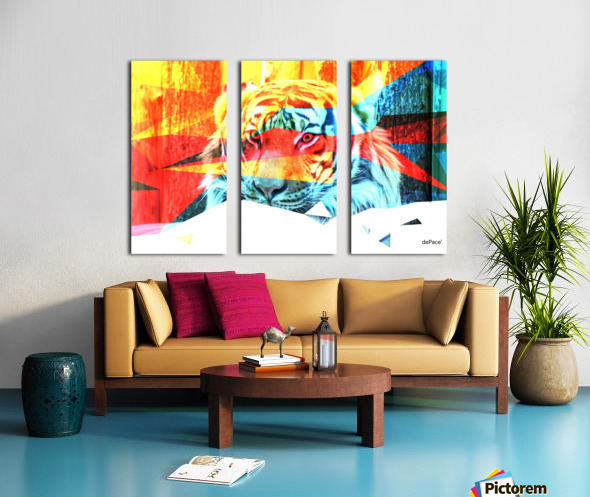 TIGER IN ABSTRACT FORM Split Canvas print