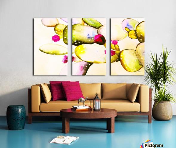 water color cactus flower Split Canvas print