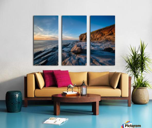 Coastal Sunset Split Canvas print