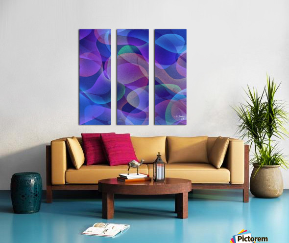 ABSTRACT ART 24 Split Canvas print