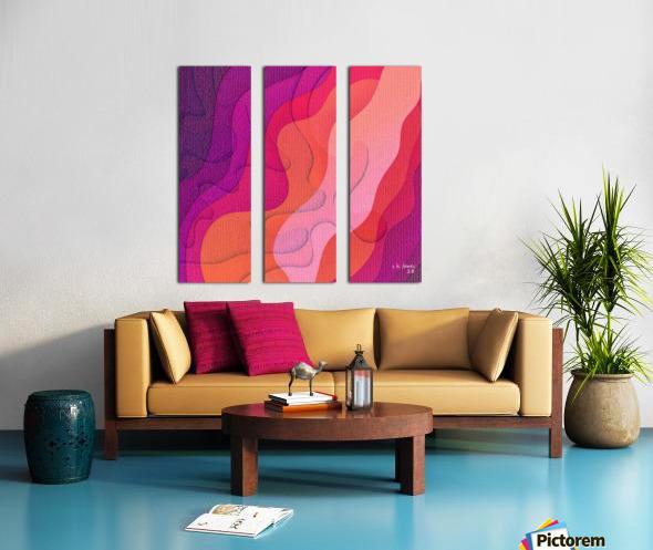 ABSTRACT ART 40 Split Canvas print