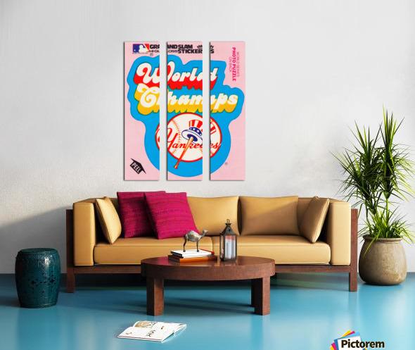 1979 fleer sticker new york yankees world champs poster Split Canvas print